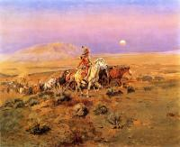 Charles Marion Russell : The Horse Thieves